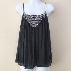 American Eagle - Embroided Twisted Strap Top